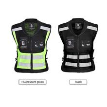 Safety Reflective Running Cycling Vest Ultra Light Comfortable Large-capacity Storage Pocket Moto Reflective Sleeveless Jacket reflective light packable jacket
