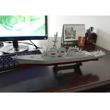 Army Guided Missile Destroyer Ship Model Static Toys with Display Stand Warship