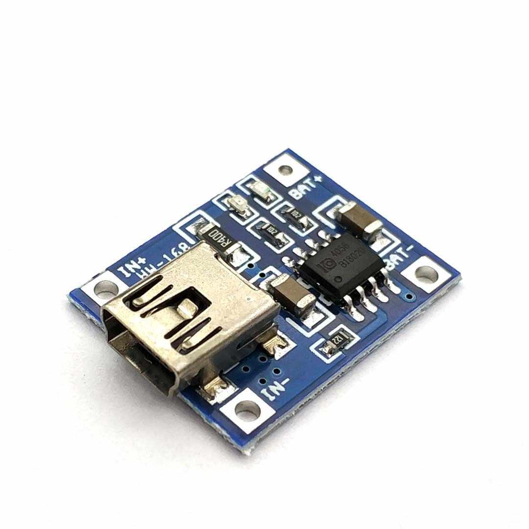 TP4056 5 V TENSTAR робот 1A Micro USB 18650 Литий Батарея зарядная плата Зарядное устройство Модуль + двухканальная видеокамера с защитой функции