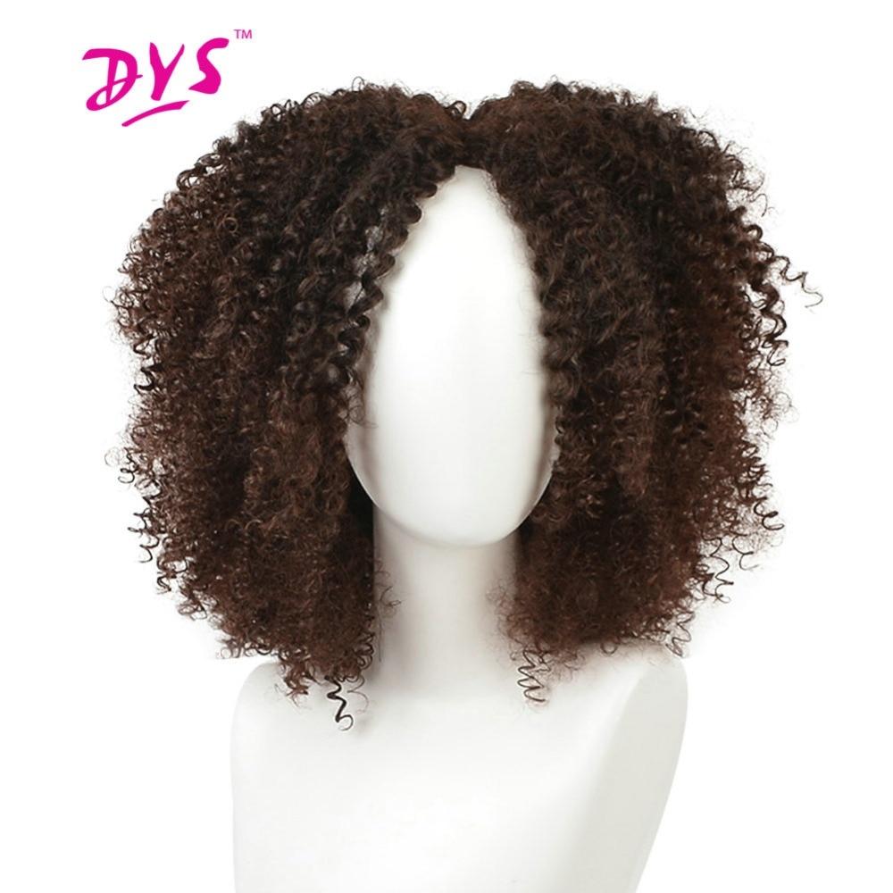 Deyngs Σύντομη Kinky Σγουρή Αφρο Περούκες - Συνθετικά μαλλιά - Φωτογραφία 3