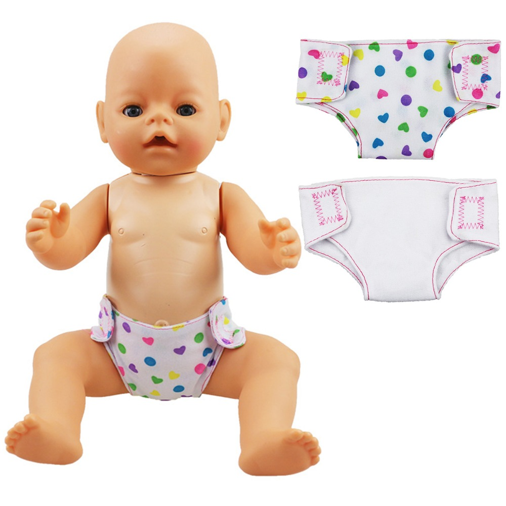 2pcs/lot Doll Mini Diaper 18inch Doll Baby Underwear Underpants Cute Clothes Doll Accessories Best Toy Dolls For Children