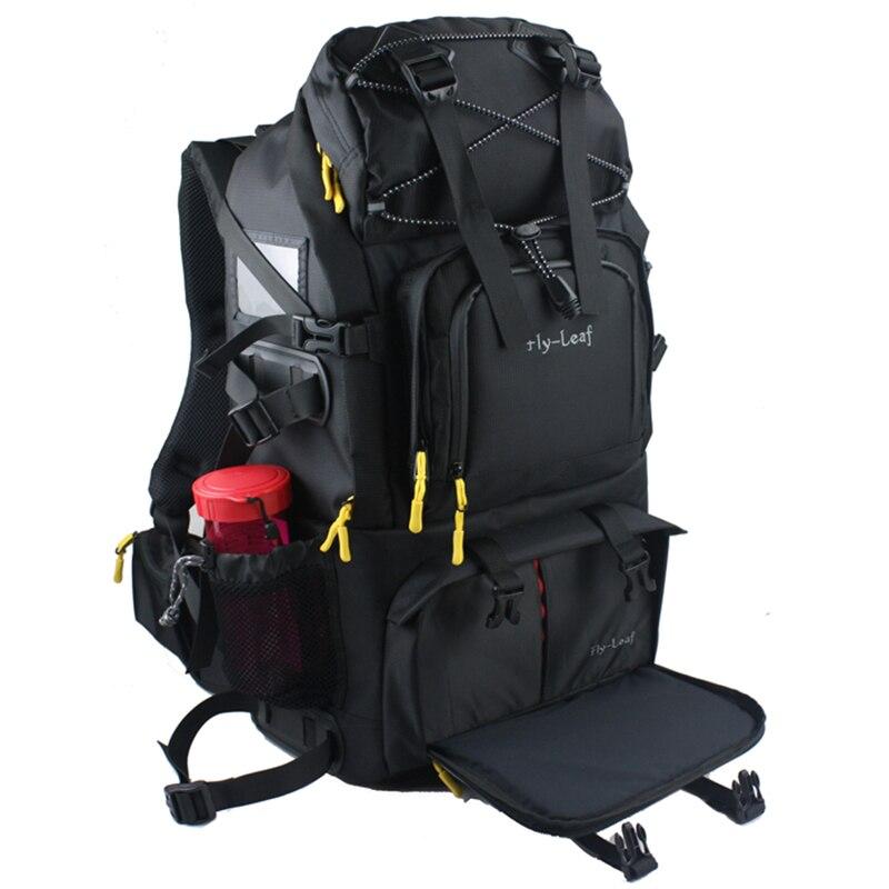 Grande capacidade dslr saco da câmera de viagem à prova dwaterproof água mochila sacos fotografia profissional à prova de choque para a lente da câmera flash