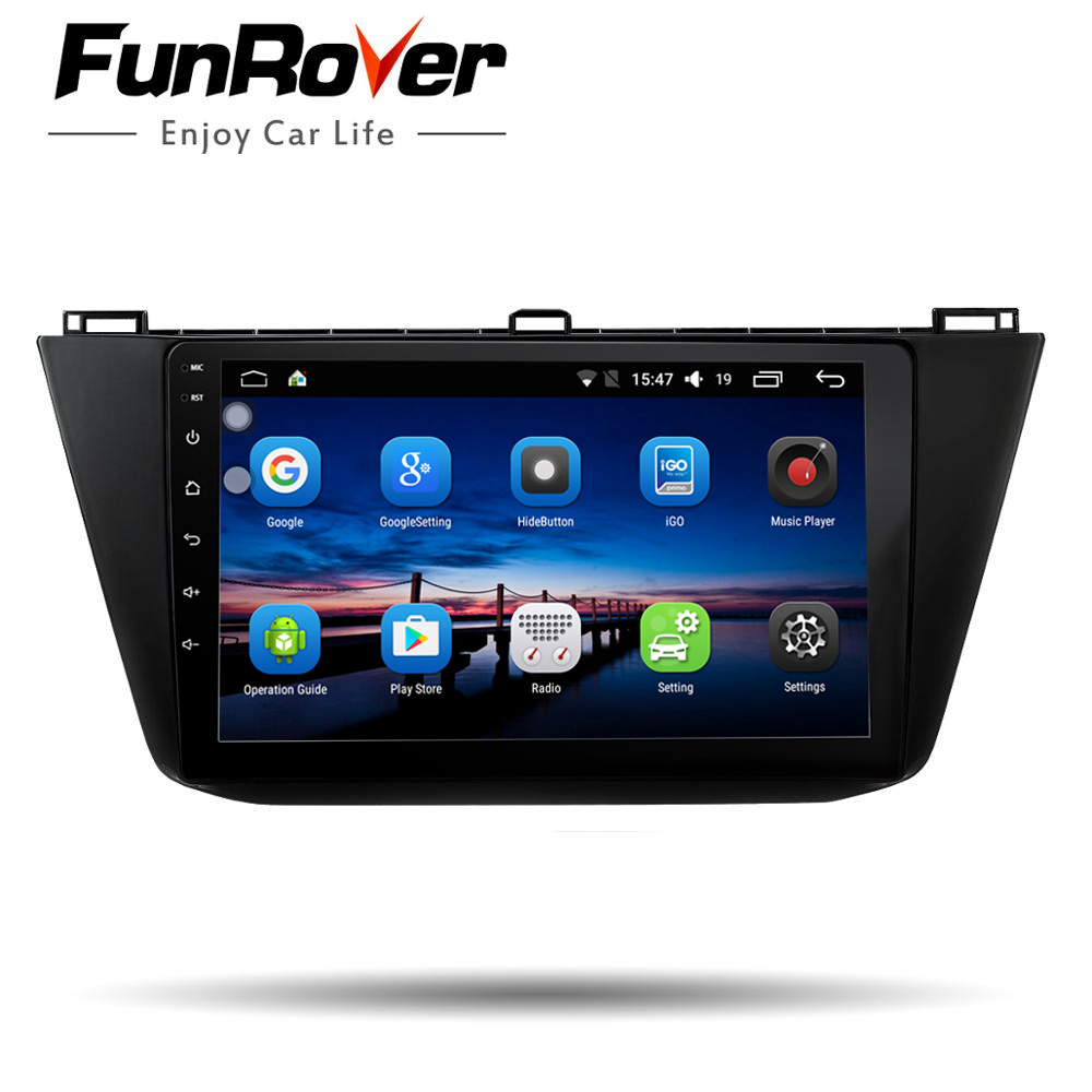 Funrover 2din Car radio player 10.1 inch Android 8.0 For Volkswagen Tiguan 2016 2017 2018 dvd gps navigation wifi Blutooth EQ FMFunrover 2din Car radio player 10.1 inch Android 8.0 For Volkswagen Tiguan 2016 2017 2018 dvd gps navigation wifi Blutooth EQ FM