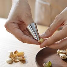 Stainless Steel Hand Finger Protector Peanut Sheller Vegetable Nuts Peeling Finger Guard Safe Chop Slice Kitchen Protection Tool seaan finger guard protect finger hand cut hand protector knife cut finger protection tool stainless steel kitchen tool gadget