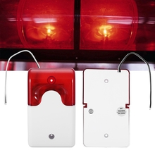 AC220V Red LED Warning Lights Acousto-optic Alarm System Emergency Strobe Lamp led security warning light