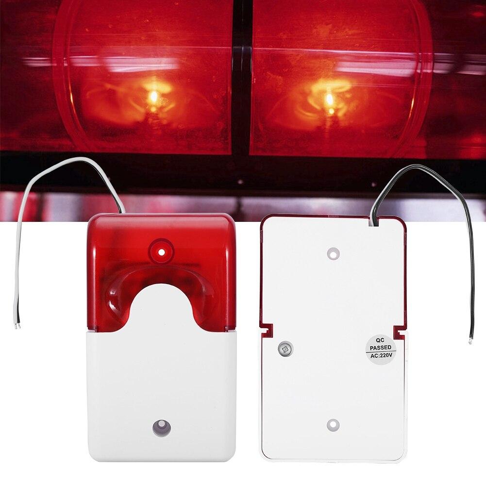Freundschaftlich Ac220v Rote Led Warnleuchten Akustisch-optischen Alarm System Notfall Strobe Lampe Led Sicherheit Warnung Licht Einen Effekt In Richtung Klare Sicht Erzeugen Professionelle Beleuchtung