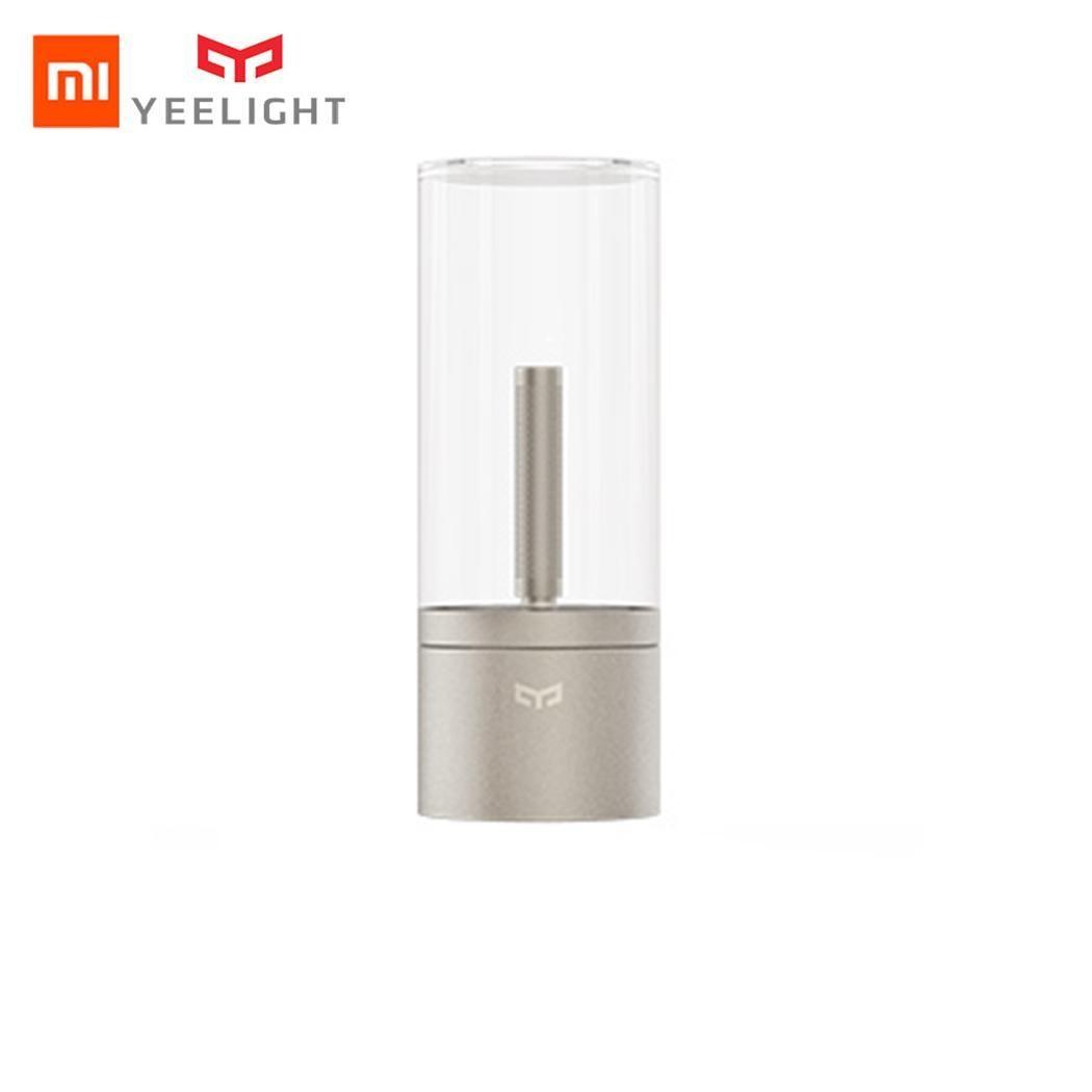 Xiaomi Mijia Yeelight bougie intelligente lumière intérieure Candela Table de nuit lumière lampe de chevet télécommande tactile App intelligente Bluetooth