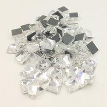 LNRRABC New 100 piece lot Square Strass Stones Rhinestones Crystal Sewing  Beads for Wedding Dress e806d0cf95c9