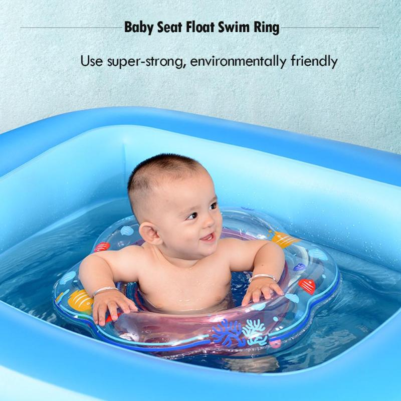 Safety Baby Seat Float Swim Ring Inflatable Infant Kids Thickened Cartoon Swimming Pool Ring Water Toys For Children Swim Circle
