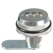 SHGO комбинированная камера с кодом из горячего сплава с замком без ключа почтовый ящик шкаф RV 3 набора Серебряный