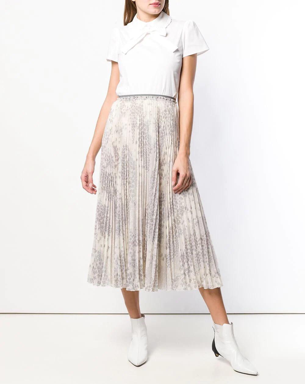 Verano 2019 Gasa De Estrella Mujeres Y Faldas Nueva Estampado Elegante Falda Con Primavera rppwA