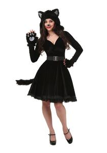 Image 3 - Black Cat Costume For Men Women Child Cosplay Parent child Costumes Attached Cuddly Animal Clothing Stage Performance Jumpsuits