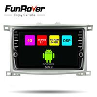 Funrover 9 Octa Core Android 8.1 Car Radio Player DVD GPS For Toyota Land cruiser LC 100 1998 2006 navi Multimedia DSP 4G 64G