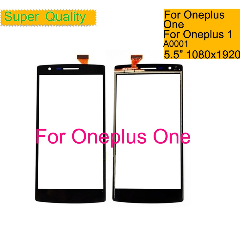 10Pcs lot Touchscreen For Oneplus One 1 A0001 Touch Screen Panel Sensor Digitizer Front Outer Glass