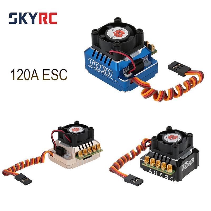 TS120 120A 2-3 s LiPo Batterie Sensored/Sensorless Brushless ESC Avec 6 v/3A BEC Pour 1/10 1/12 RC Hors route Voiture 1/10 1/8 Voiture