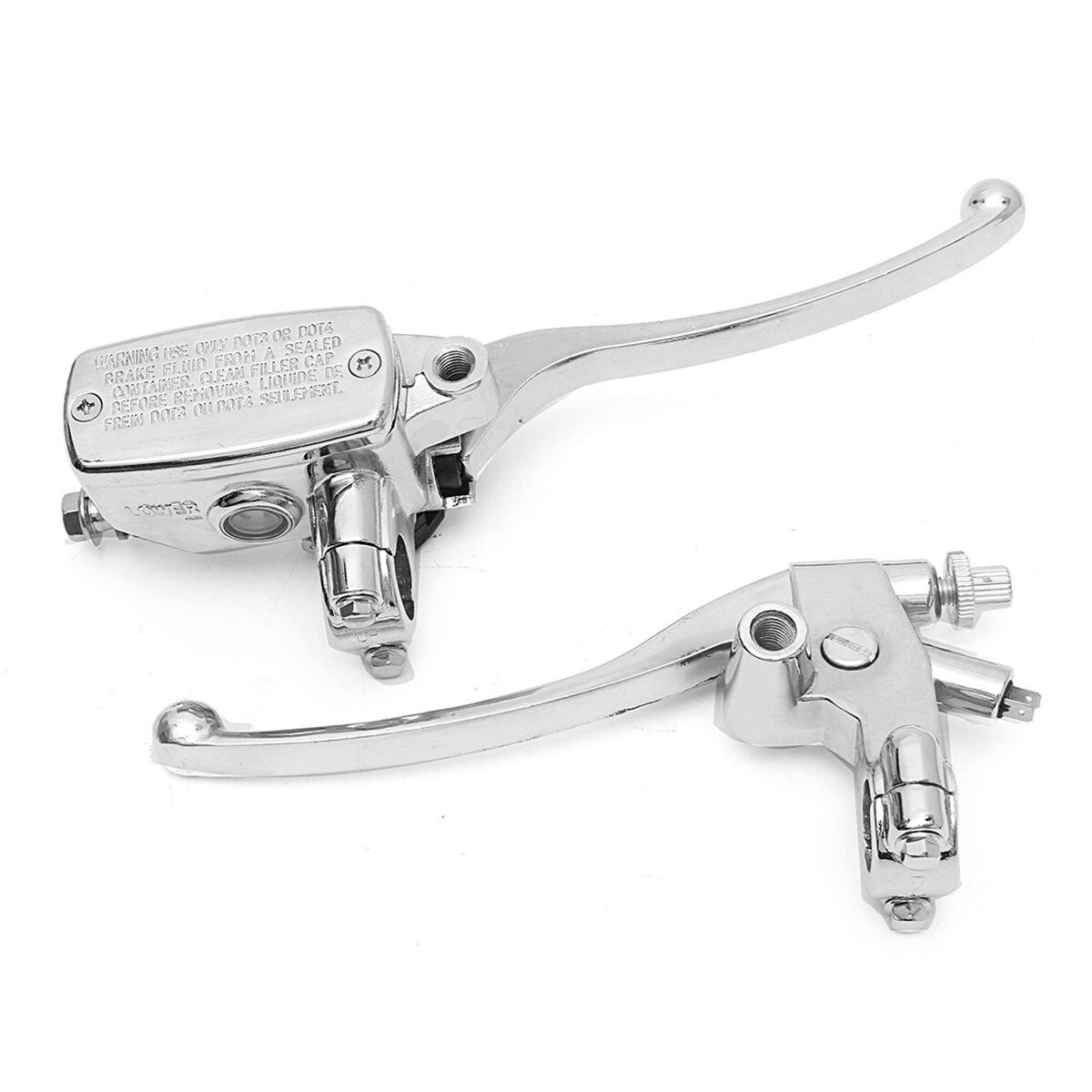 "7//8/"" Motorcycle Handlebar Master Cylinder Hydraulic Brake Control /& Clutch Lever"