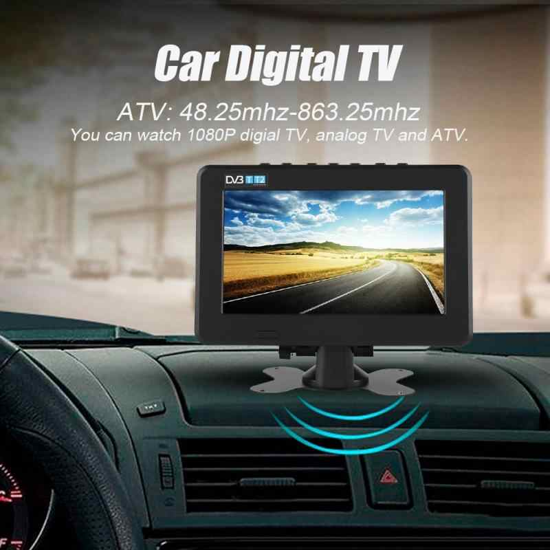 LEADSTAR 7inch DVB-T2 Car Digital TV High Sensitivity 1080P Portable TV for Analog/Digital TV/ATV