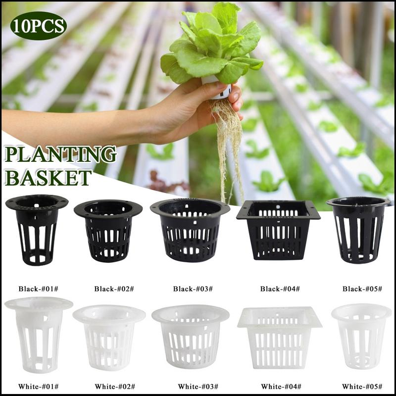 10PCS Hydroponic Plant Planting Basket Mini Mesh Pot Net Cup Basket Home Plastic Hydroponic Containers For Balcony Garden Grow