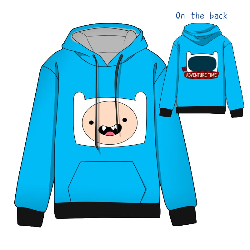 Hot  Anime Adventure Time with Finn and Jake Cotton  Cosplay Hoodies Standard Hooded   Winter  Tops Unisex  funny Sweatshirts jung kook bts persona