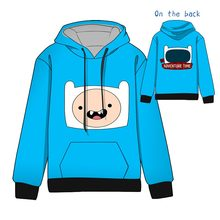 Hot  Anime Adventure Time with Finn and Jake Cotton  Cosplay Hoodies Standard Hooded   Winter  Tops Unisex  funny Sweatshirts 2018 adventure time with finn and jake logo wallets purse multi plastic leather w202