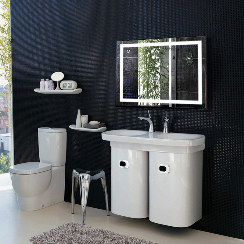 Fast Deliver 1pc Smart Mirror Led Bathroom Mirror Wall Bathroom Mirror Bathroom Toilet Anti-fog Mirror With Touch Screen 23w 6000k Hwc Punctual Timing Bathroom Fixtures