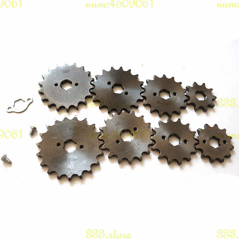 high quality 520 13 14 15 16 17 18 19t Tooth 20mm Front Engine Sprocket For ATV Quad Dirt Pit bike Buggy  Drive Counter Sprocket