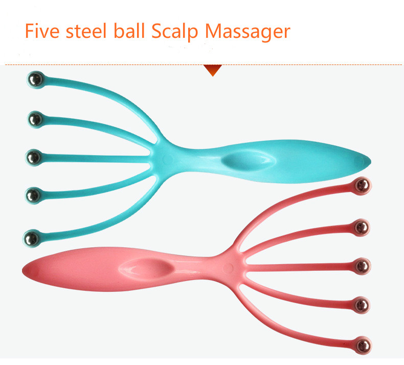 Relaxing Scalp Massager with Steel Ball in Five Finger to Relax Tense Muscles Helps in Improving Blood Circulation 4