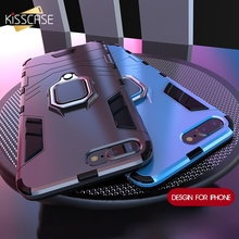 KISSCASE Shockproof Case For iPhone 6 6S 7 8 Plus Armor Ring Holder Back Case For iPhone X XS Xs Max XR 7 8 5 5S Se Cover Funda kisscase shockproof armor cases for iphone 6 6s 7 8 plus xs case for iphone x 5 5s se xs xs max xr finger ring holder case funda