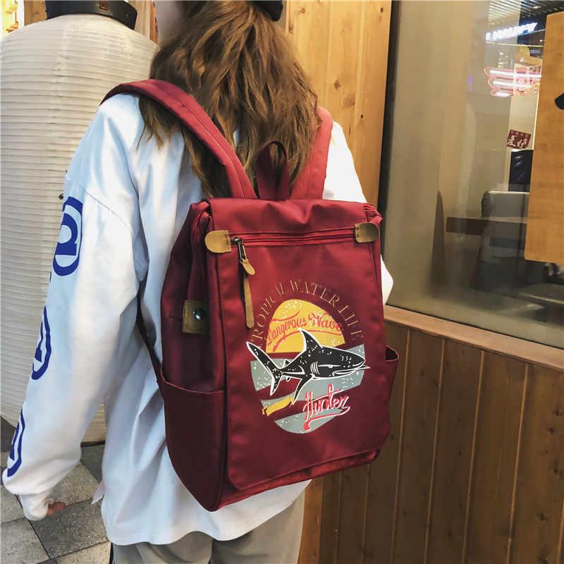 Mochila de nailon para mujer, bolso para niñas, bolso de moda para estudiantes universitarios, bolsas para ambos hombros, bolso Casual para mujer, grandes mochilas escolares
