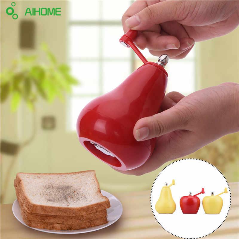 Пластиковые ручные мельницы для соли и перца в форме фруктов измельчитель для приправы для приготовления пищи инструменты для кухни дома