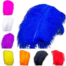 10 pieces 40-45CM/ 16-18inch  natural ostrich white feather crafts carnival costume party home wedding decoration feathers wholasale elegant black ostrich feathers for crafts 15 70cm 6 28inch wedding party supplies carnival dancer decoration plumes