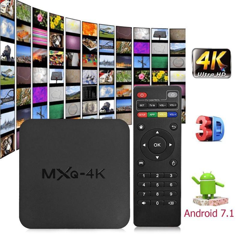MXQ 4K Android 7.1 Smart TV Box Rockchip RK3229 Quad Core 1G+8G 2.4G WIFI DLNA Set-top Box Media Player High Quality Accessory