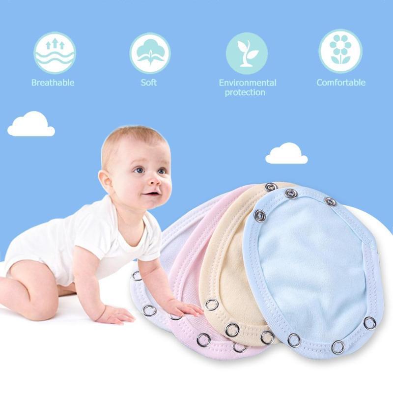 Baby Romper Bodysuit Diaper Lengthen Extender Extension Cotton Mixed Color