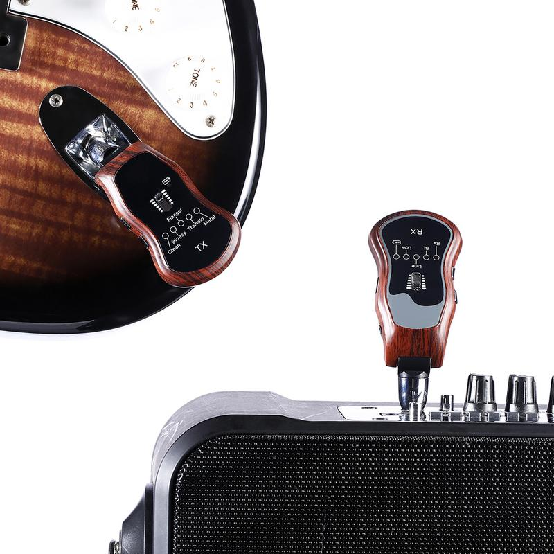Electric Guitar Pedals Wireless Guitar Effects Transmitter Receiver Clean-bluesy-Flanger Floating-Tremolo Vibrato-heavy Metal недорго, оригинальная цена