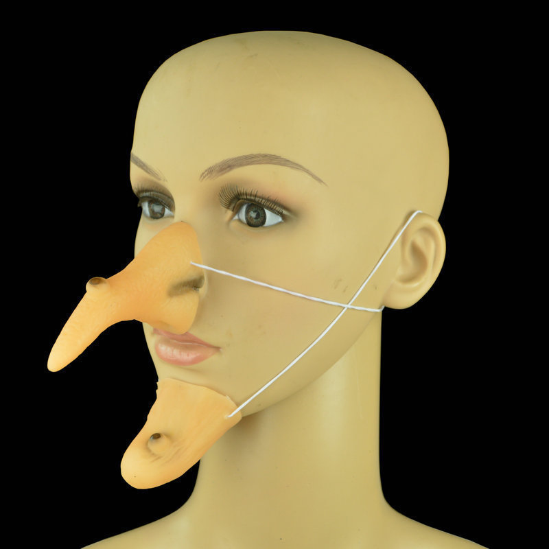 Stage Performance Accessories Witch's Nose Chin Suit Halloween Funny Maggot Performance Props Amazing Toy BEST GIFT Cosplay 1Pc