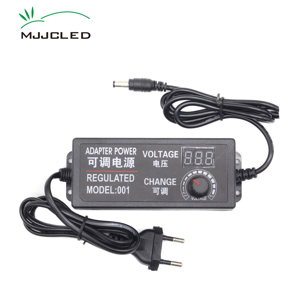 <font><b>AC</b></font> <font><b>DC</b></font> LED Transformer <font><b>3V</b></font> 9V <font><b>12V</b></font> 24V Regulated Power Adapter Voltage Adjustable Switching Power Supply 2A 3A 5A Voltage Regulator image