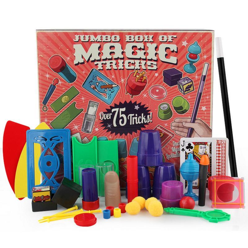 Chidlren truques mágicos brinquedos hanky panky júnior conjunto de magia simples adereços mágicos para crianças iniciantes mágica com dvd kit ensino
