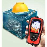 90 3 Water Sonar Sensor 125KHz 7V LCD Rechargable Remote Fish Finder 45M 45m Lithium Rechargeable degree Wireless Depth