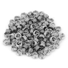100 шт. нить из нержавеющей стали ремонтные вставки спиральный провод вставка спиральный винт Ремонтный комплект вставок M6x1.0x1D длина для ремонтного инструмента