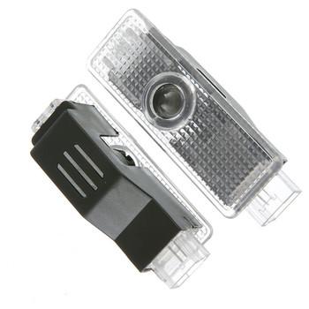 M logo 2 sztuk wydajność logo led drzwi auta witamy światło dla BMW uprzejmości światła projektor lampa laserowa samochodów cień światła 2 sztuk partia tanie i dobre opinie kebedemm Witamy Światło