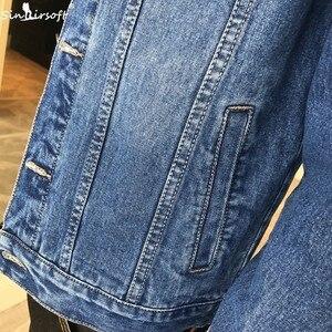 Image 4 - Yeni erkek ceket Retro Denim ince moda Denim ceket Denim ceket rahat sokak giyim erkek büyük boy 915 #