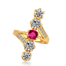 Rings for women Silver 925 Mood couple costume jewellery Baroque gold-plated zircon King of mens rings ringenB2456