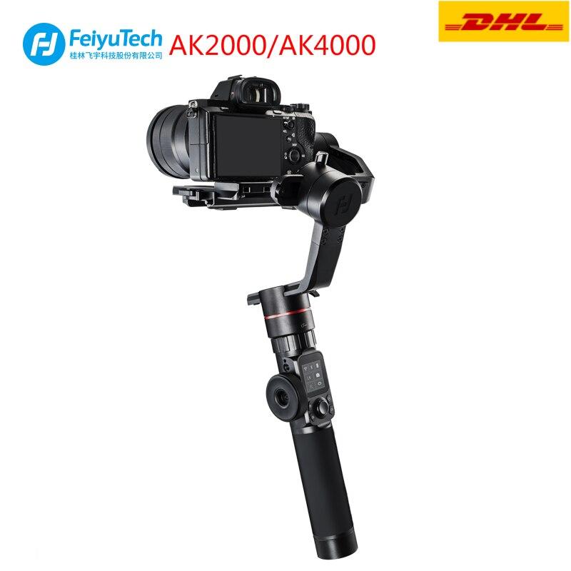 FeiyuTech AK2000 AK4000 3-Assi Handheld Stabilizzatore Fotocamera Giunto Cardanico per DSLR Sony Canon Panasonic GH5 Nikon Estabilizador De Macchina Fotografica