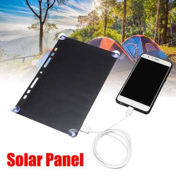 Portable Solar Power Charging Panel 5V 10W USB Charger For Mobile Phone Tablet Frame Design for Traveling Camping Ultra Thin