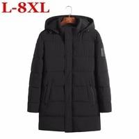 8xl 7xl 6x Plus Size Men Jacket Coats Thicken Warm Winter Jackets Casual Men Parka Hooded Outwear Cotton padded Jacket Plus Size
