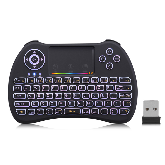 Zeepin H9 Wireless Mini Backlight Function QWERTY keyboard with Touchpad Support RGB