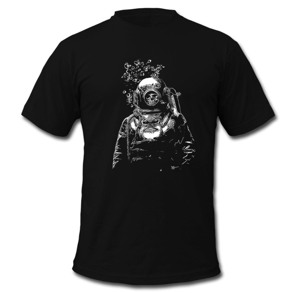 Men 2019 Brand Clothing Tees Casual Male Best Selling T Shirt Skeleton Diver Men's T-Shirt Summer Style Funny Tee Shirt