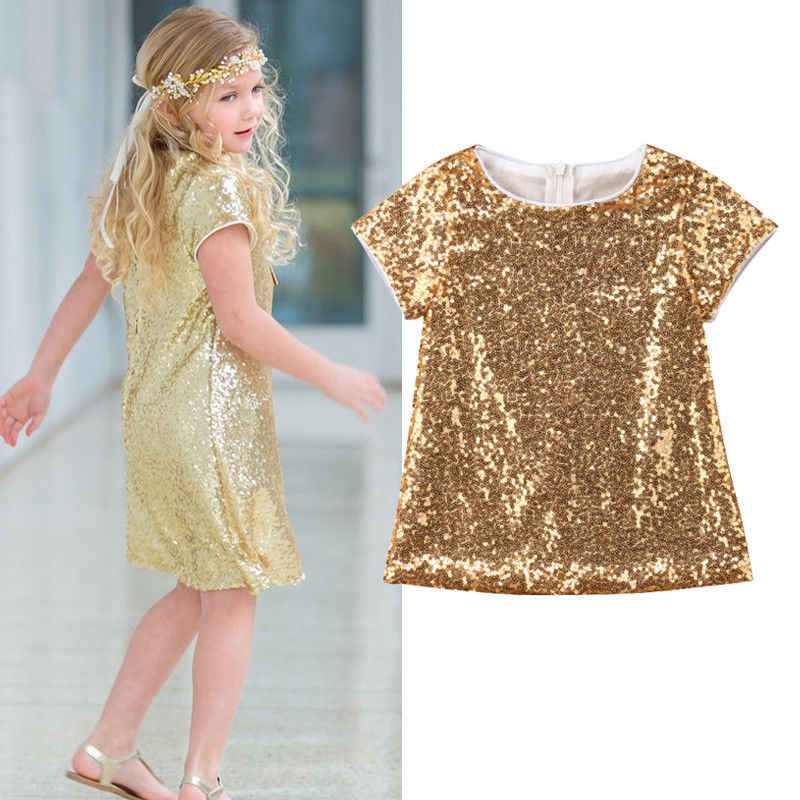 2018 Pudcoco Brand Fashion Sequins Baby Kid Flower Girl Dress Party Pageant Gown Princess Dress Sundress