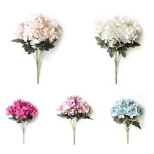 Single European Style Artificial Flower Bouquet 6-branch Scottish Hydrangea Fake Simulative Pot Plant Home Decoration