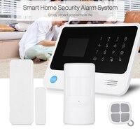 GSM WiFi/GPRS светодиодный SMS Led Сенсорная клавиатура сигнализация домашняя система безопасности Высокое качество 100 240 в EU Plug